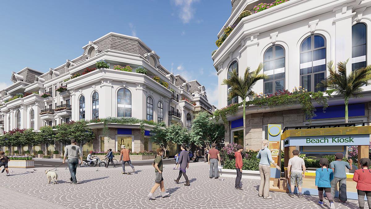 Shophouse dự án Paris Elysor