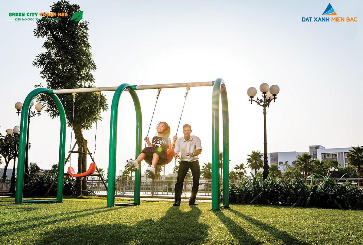 Green City Thanh Hóa nổi bật với 2 công viên xanh và khu thể thao ngoài trời đã hiện hữu