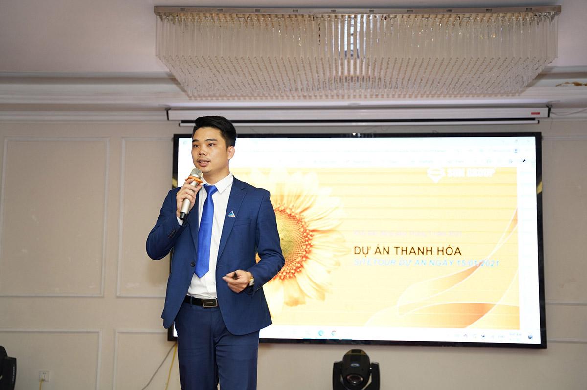 Ông Nguyễn Ngọc Dinh TGĐ Công ty CP BĐS Bắc Bộ chia sẻ thông tin về dự án
